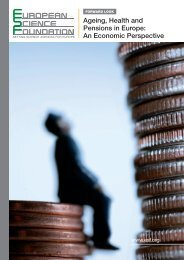 Ageing, Health and Pensions in Europe: An Economic Perspective