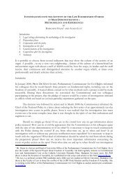 1 Introduction 1. Legal settings determining the methodology of the ...