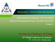 Reinsurance: Tool for Capital Management - Actuarial Society of India