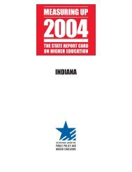 Measuring Up 2004 - Indiana Pathways to College Network