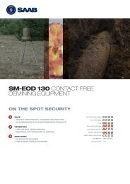 SM-EOD 130 CONTACT FREE DEMINING EQUIPMENT - Saab