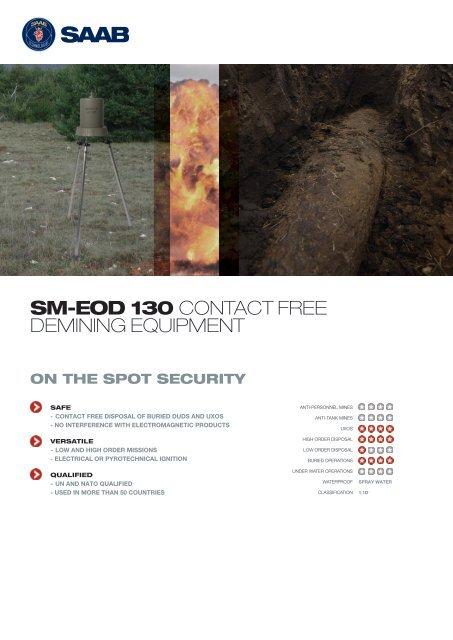 SM-EOD 130 CONTACT FREE DEMINING EQUIPMENT - Saab