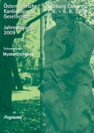 Österreichische Kardiologische Gesellschaft Jahrestagung 2009 ...