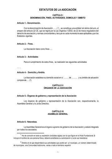 estatutos de la asociación - Carlos III Máster en Gestión Cultural