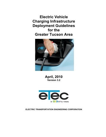 Electric Vehicle Charging Infrastructure Guidelines - The EV Project