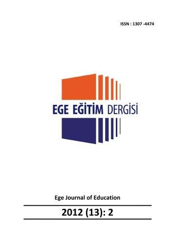 Dergiyi PDF formatında indirmek için tıklayınız. - Eğitim Fakültesi