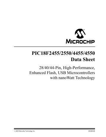PIC18F2455/2550/4455/4550 Data Sheet - Microchip
