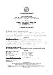 Conseil municipal du 15 décembre 2011 - Franconville