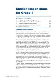 English lesson plans for Grade 4
