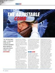 THE ADJUSTABLE COMB - Clay Shooting USA