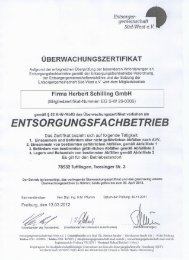 ENTSORGUNGSFA CHBETRIEB - Herbert Schilling GmbH
