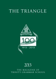 The Triangle 2012 - Trinity Grammar School