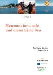 Measures for a safe and clean Baltic Sea The Baltic Master Action ...