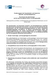 Positionspapier der französischen und deutschen Industrie- und ...