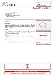 Essential-6 Patch Cords - Nexans