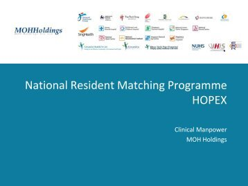 National Resident Matching Programme HOPEX - Physicians - MOH ...