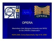 ν →ν - opera - Infn