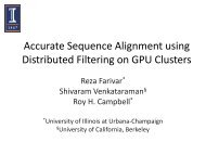 Accurate Sequence Alignment Using Distributed Filtering on GPU ...