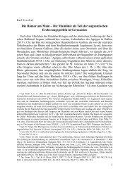 Die Römer am Main - Wissenschaftlicher Kommissionsverlag