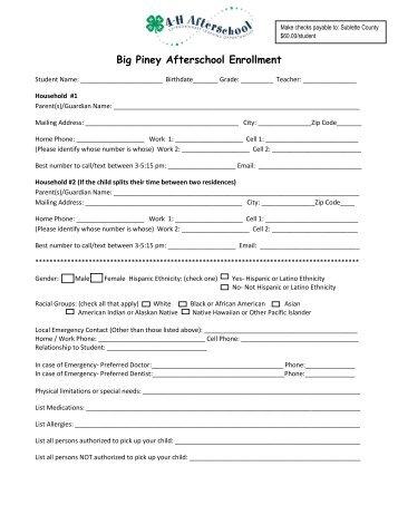 2013-14 BPAS Enrollment Form