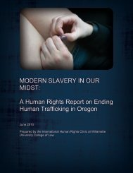 COVER OF REPORT: Human Rights Report on Human Trafficking in ...