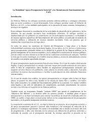 Apoyo Presupuestario Sectorial - Viceministerio de Coca y ...
