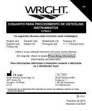instrumentos - Wright Medical Technology, Inc.
