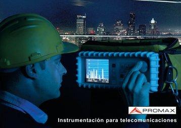 Catálogo de Instrumentación para Telecomunicaciones - Promax