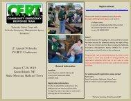 2nd Annual Nebraska CERT Conference August 17-18, 2012 Grand ...