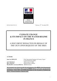 climate change & its impact on the water regime in france a ...