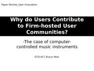Why do Users Contribute to Firm-hosted User Communities?