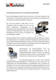 August 2007 Produkterweiterung der all-in-one ... - AxNum AG