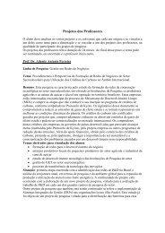 Projetos dos Professores - Unip