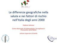 Le differenze geografiche nella salute e nei fattori di rischio nell'Italia ...