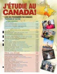 liste des programmes par domaines programs by ... - Collège Boréal