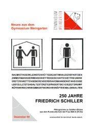 250 JAHRE FRIEDRICH SCHILLER - Gymnasium Weingarten