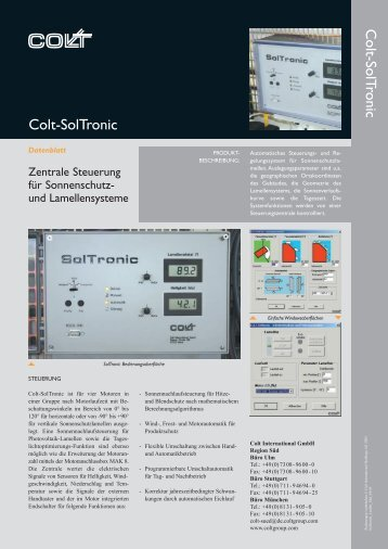 Colt-SolTronic Colt-SolTronic - Colt International GmbH, Kleve