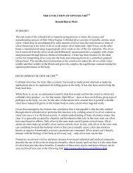 THE EVOLUTION OF OPTI-SILVER Donald Baird, Ph.D. SUMMARY ...