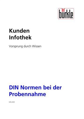 Kunden Infothek DIN Normen bei der Probennahme - Bürkle GmbH