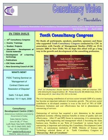 April 08 Issue - Consultancy Development Center