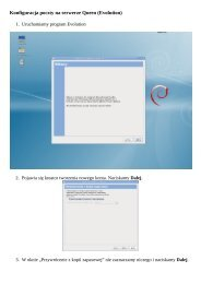 Konfiguracja poczty na serwerze Queen (Evolution) - Serwer Queen