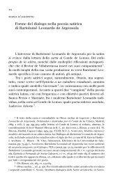 Forme del dialogo nella poesia satirica di BartolomeLeonardo de ...