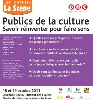 Le programme - Accueil Galerie audiovisuelle