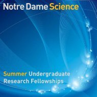 Summer Undergraduate Research Fellowships - College of Science