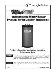 Instantaneous Water Heater Prestige Series 3 Boiler ... - Triangle Tube