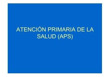 ATENCIÓN PRIMARIA DE LA SALUD (APS)