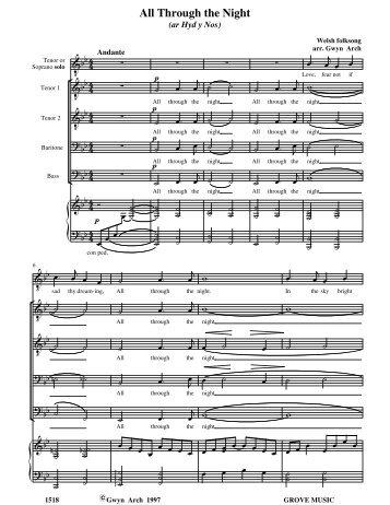 through the night - Grove Music Catalogue