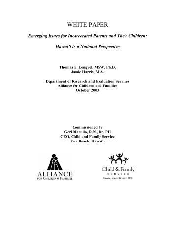 incarcerated parents and their children essay In the lives of incarcerated parents and their children to preserve and strengthen   in 2007, the population of minor children of incarcerated parents consisted of.