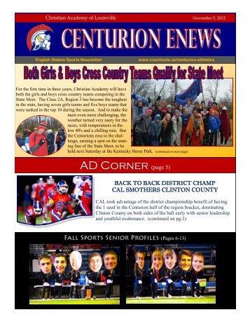 eNews 11/5/2012 - Christian Academy School System