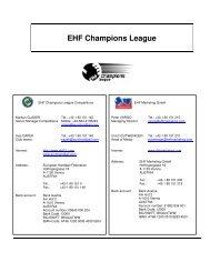 EHF Champions League - European Handball Federation